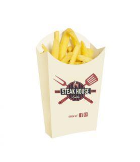 GRANDE frite carton blanc