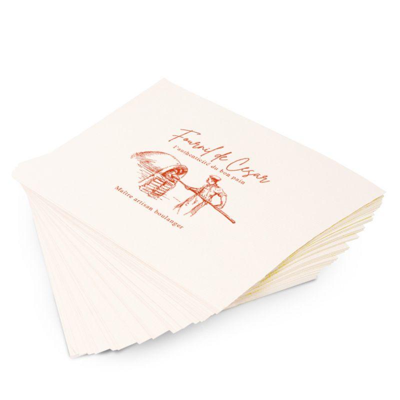 Papier kraft blanchi personnalisé - EXPRESS PREMIUM