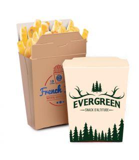 Pochette frites à emporter personnalisée