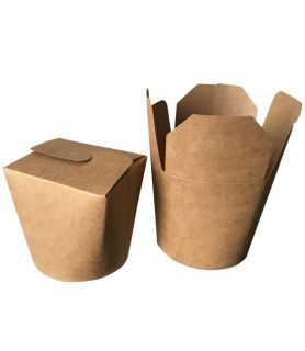 Boîtes à pâtes kraft brun vente a emporter de pates