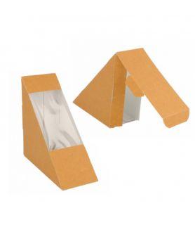 Coque sandwich triangle kraft avec fenêtre