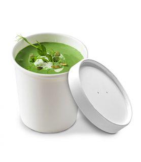 Pot à soupe carton blanc micro ondable