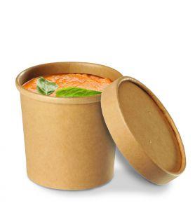 Pot à soupe kraft brun micro ondable