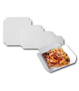 carré rainé carton, vente part de quiche tarte individuelle
