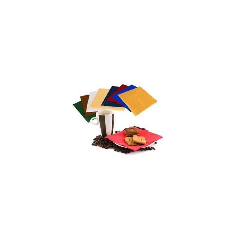 Serviettes colorées