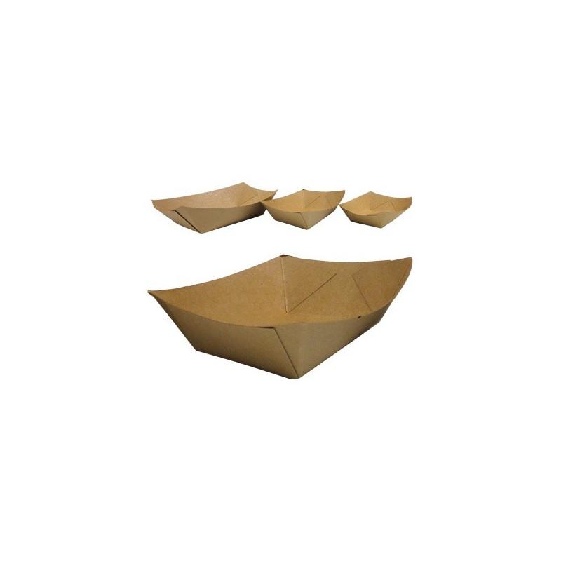 Barquettes kraft brun frites, vente a emporter