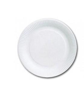Assiettes rondes carton blanc