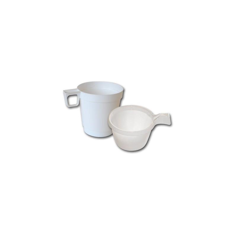 tasse blanche a café avec poigné vente a emporter café, chocolat chaud, thé, cappucino, boisson chaude
