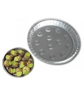 Assiette aluminium alvéolée pour escargots