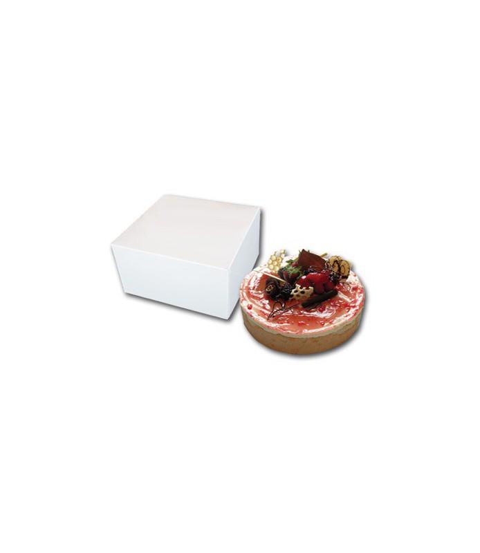 Boîtes pâtissières blanches carrées