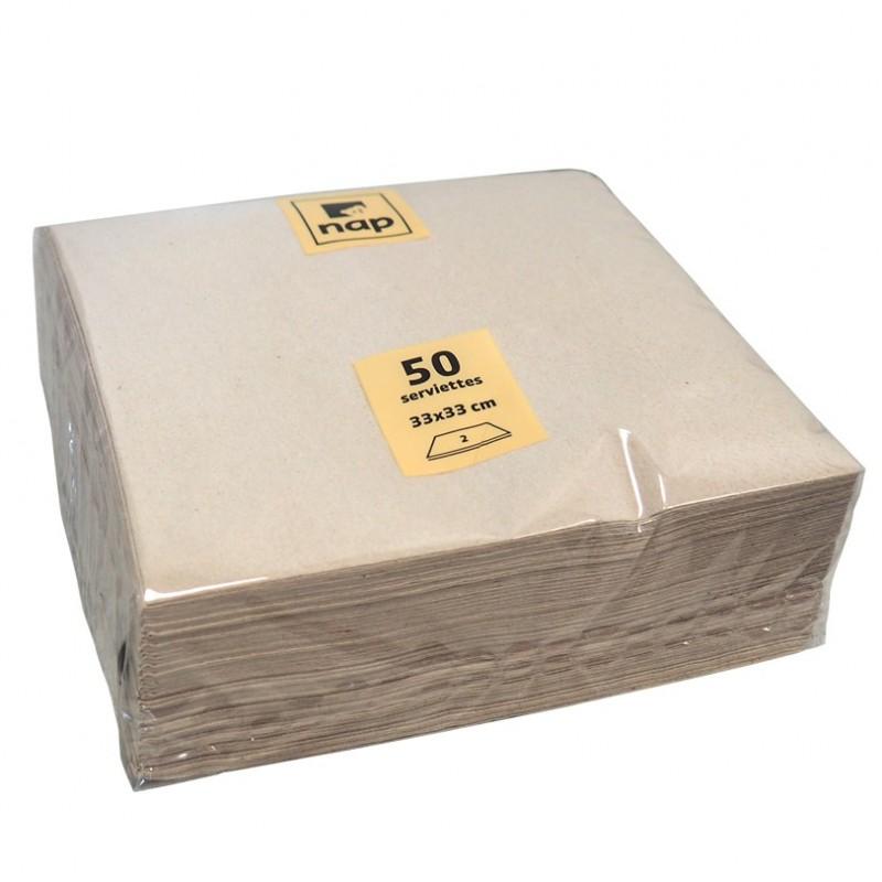 Serviette Kraft Brun emballage écologique vaisselle jetable écologique