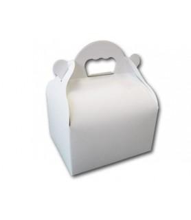 Boite poignée blanche vente a emporter patisserie snakcing