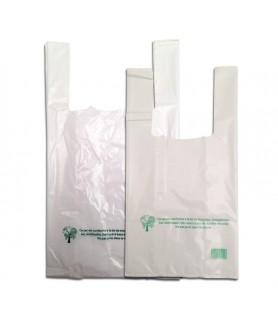 Sac bretelle blanc 50µ emballage écologique