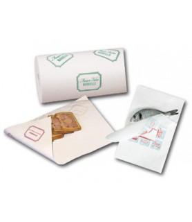 Papier ingraissable snack vente a emporter aliments gras et humides