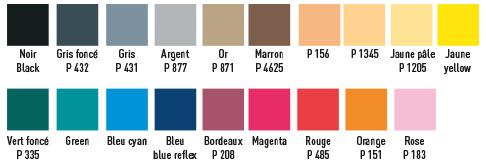 Nuancier couleur caissettes papier