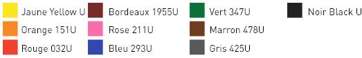 couleurs d'impression papier thermo premium