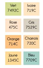 couleurs de fonds velour
