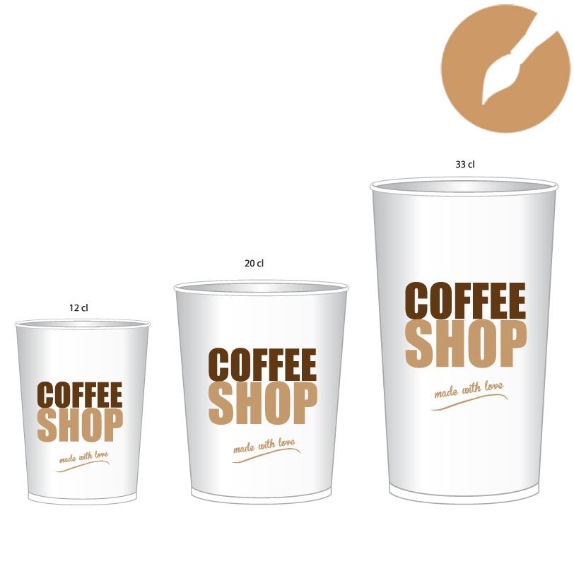 Exceptionnel Gobelets carton café - PAPETERIE PROVENCALE YF21